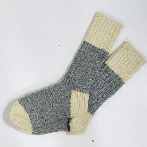 Unisex Socks Pure Wool Hand Knitted Warm 15.0'' L